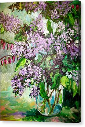 Lilacs Canvas Print by Carol Mangano