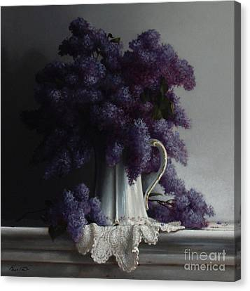 Lilacs Study No.2 2011 Canvas Print by Larry Preston
