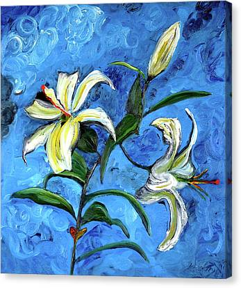 Lilies Canvas Print by Gregory Allen Page