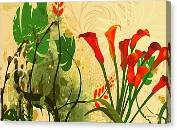 Lilies In The Park Canvas Print by Madeline  Allen - SmudgeArt