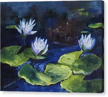Lilies In The Spotlight Canvas Print