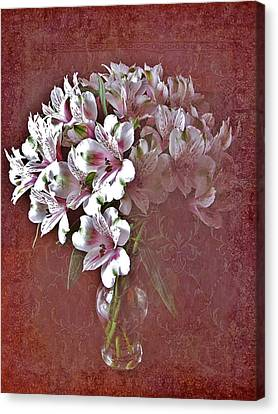 Canvas Print featuring the photograph Lilies In Vase by Diane Alexander