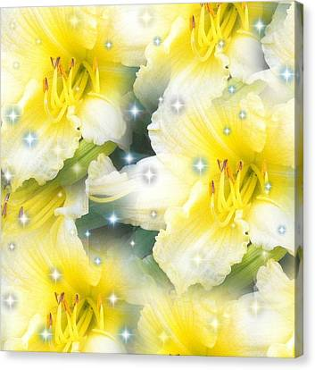 Lilies Photograph By Saribelle Rodriguez Canvas Print by Saribelle Rodriguez