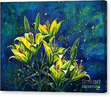 Lilies Canvas Print by Zaira Dzhaubaeva