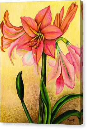 Lilies Canvas Print by Zina Stromberg