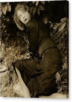 Lillian Gish As The Harlot In Within The Gates Canvas Print by Edward Steichen