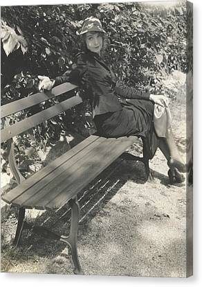 Park Benches Canvas Print - Lillian Gish In Within The Gates by Edward Steichen