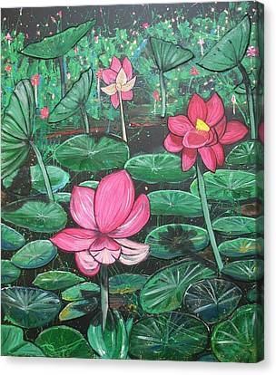 Canvas Print - Lillies by Joan Stratton