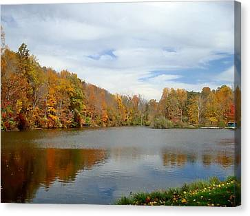 Lilly Lake October Canvas Print by BackHome Images
