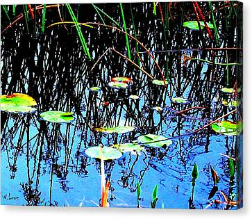 Lilly Pads - Abstract Canvas Print