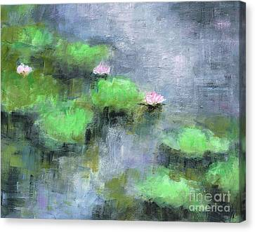 Water Lilly's  Canvas Print by Frances Marino