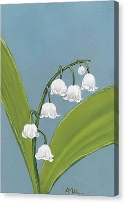 Lily Of The Valley Canvas Print by Anastasiya Malakhova