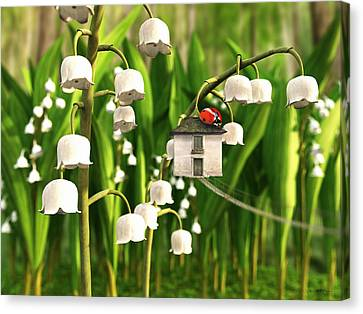 Lily Of The Valley Canvas Print by Cynthia Decker