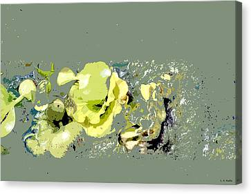 Canvas Print featuring the digital art Lily Pads - Deconstructed by Lauren Radke