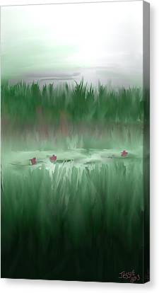 Lily Pads Canvas Print by Jessica Wright