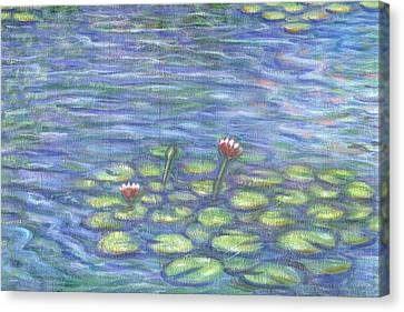 Lily Pads Two Canvas Print by Linda Mears