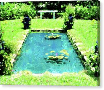 Lily Pond Garden Canvas Print by Florene Welebny