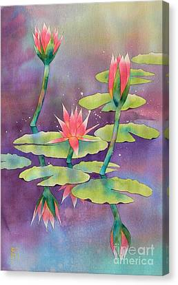 Waterlily Canvas Print - Lily Pond by Robert Hooper