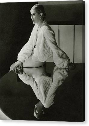 Lilyan Tashman Wearing A Bolero Canvas Print by Cecil Beaton