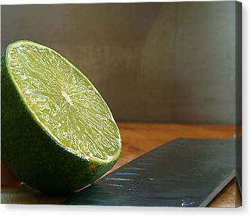 Canvas Print featuring the photograph Lime Blade by Joe Schofield