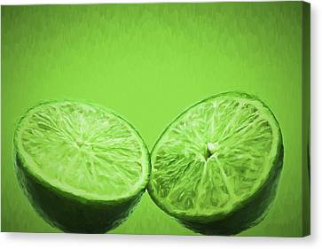 Lime Food Painted Digitally 2 Canvas Print by David Haskett