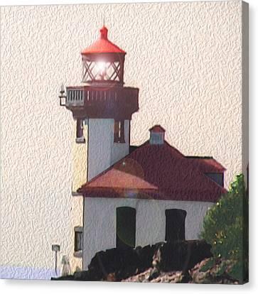 Lime Kiln Lighthouse Canvas Print by John Hines