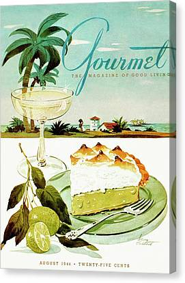 Lime Canvas Print - Lime Meringue Pie With Champagne by Henry Stahlhut