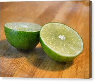 Lime Canvas Print by Michelle Calkins