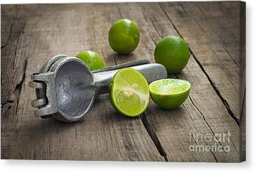 Lime Press Canvas Print by Aged Pixel