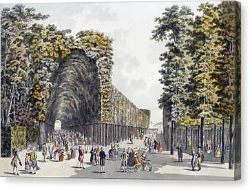 Pleasure Canvas Print - Limegrove Walk, Augarten, Vienna, 1790s by Johann Ziegler