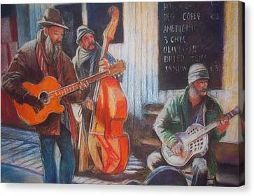Canvas Print featuring the painting Limerick  Milk Market by Paul Weerasekera