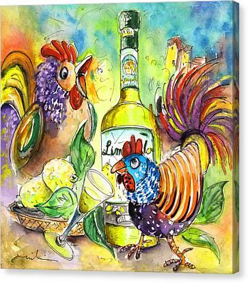 Limoncello Di Sicilia Canvas Print by Miki De Goodaboom