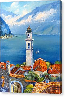 Limone-lago Di Garda Canvas Print