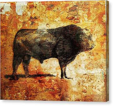 Canvas Print featuring the drawing French Limousine Bull 10 by Larry Campbell