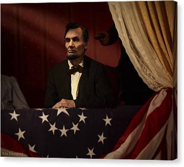 Lincoln Drawings Canvas Print - Lincoln At Fords Theater 2 by Ray Downing