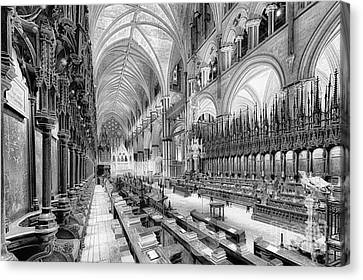 Lincoln Cathedral The Choir I Canvas Print by Jack Torcello