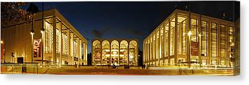 Canvas Print featuring the photograph Lincoln Center At Night by Yue Wang