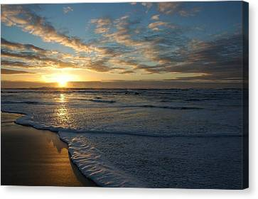 Lincoln City Beach Sunset Canvas Print