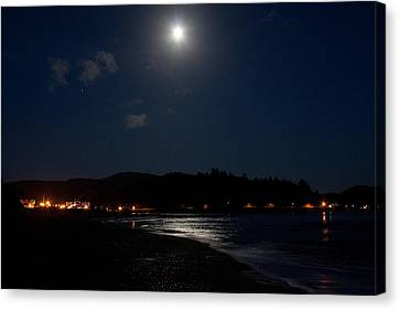 Lincoln City Moonlight Canvas Print by John Daly