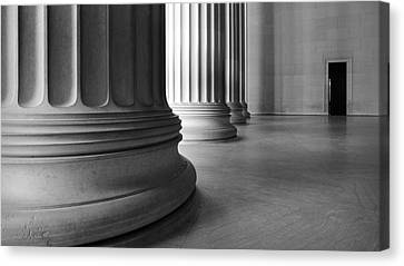 Lincoln Columns Canvas Print by Michael Donahue