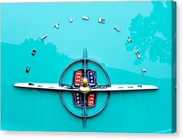 Lincoln Continental Rear Emblem Canvas Print by Jill Reger