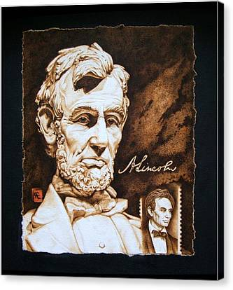 Lincoln Memorial And The Younger Canvas Print by Cynthia Adams
