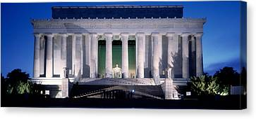 Lincoln Memorial At Dusk, Washington Canvas Print by Panoramic Images
