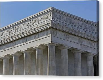 Lincoln Memorial Columns  Canvas Print by Susan Candelario