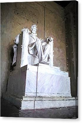 Canvas Print featuring the painting Lincoln Memorial by Ike Krieger