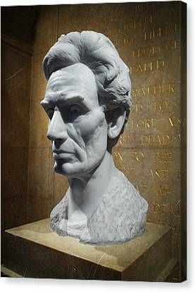 Lincoln Memorial Sculpt Canvas Print by Glenn McCarthy