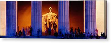 Lincoln Memorial, Washington Dc Canvas Print by Panoramic Images