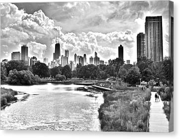 Lincoln Park Black And White Canvas Print