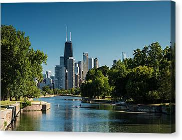 Lincoln Park Lagoon Canvas Print - Lincoln Park Chicago by Steve Gadomski