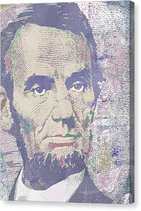 Lincoln Reimagined Vertical Canvas Print by Tony Rubino